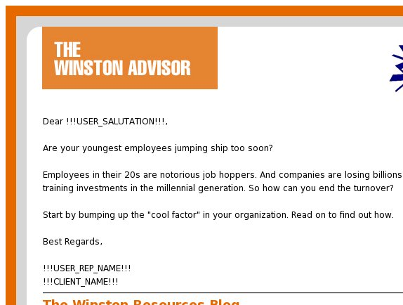 The Winston Advisor: Keep millennials from walking out the door