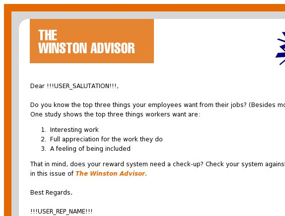 The Winston Advisor: Why reward systems fail