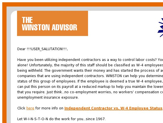 Independent Contractor vs. W-4 Employee Status